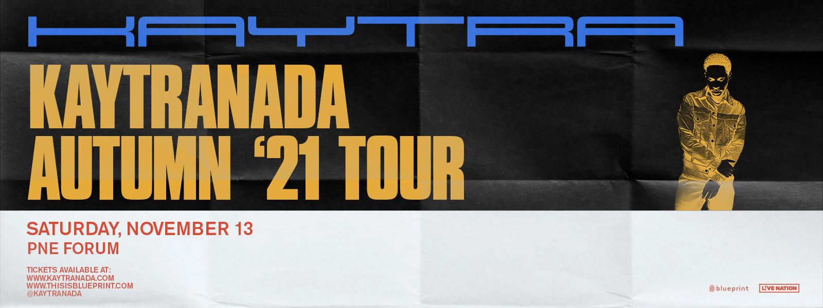 Kaytranada - Autumn '21 Tour