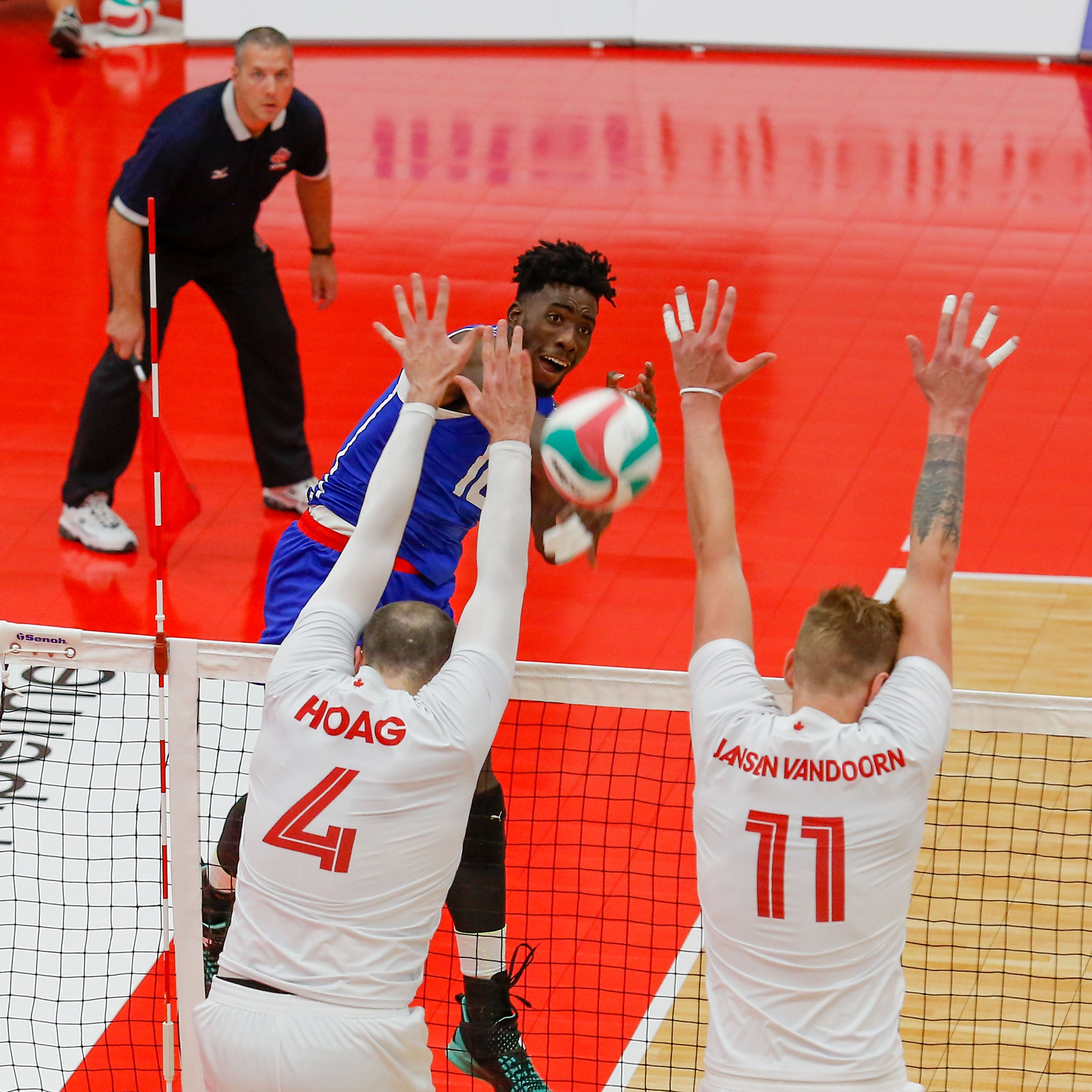 Canadian men's volleyball team playing for Olympic lives